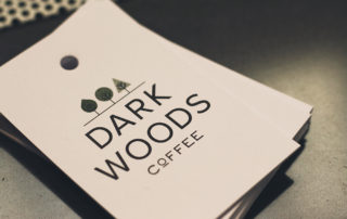dark woods coffee leaflets